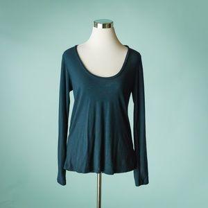 Standard James Perse 2 M Blue Long Sleeve Top